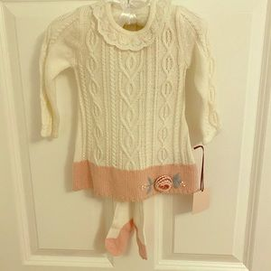 Baby dress with tights